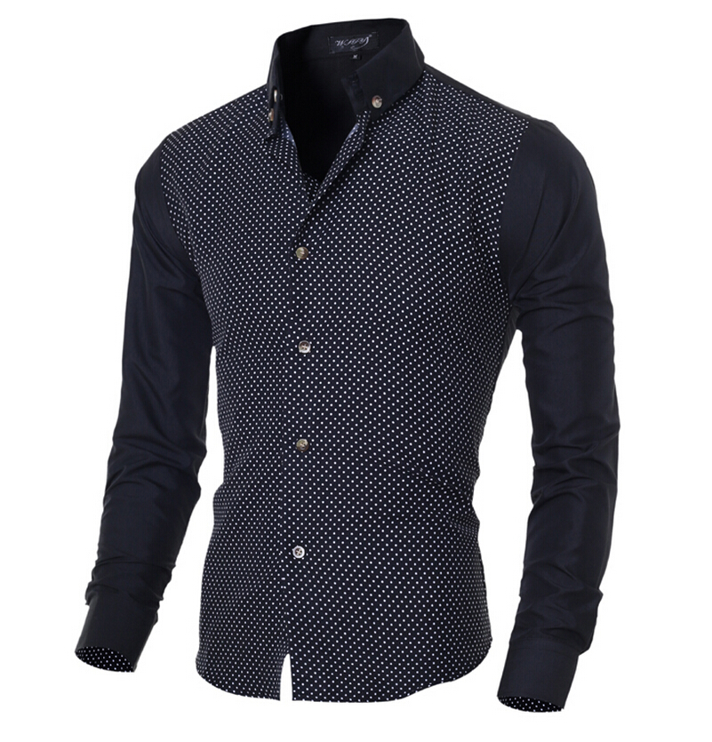 New brand men shirts long sleeve male business casual for Long sleeve business shirts