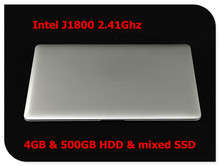 14inch ultrabook laptop notebook computer 4GB DDR3 500GB mixed SSD J1800 WIFI HDMI webcam(China (Mainland))