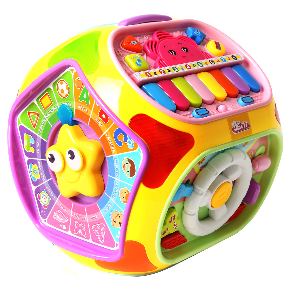 Learning & Education Multifunctional Musical Toys Baby Fun Heptahedron House Educational Toys For Kid Children Music Box multifunctional musical toys colorful baby fun house electronic geometric blocks sorting learning educational toys gifts nobox