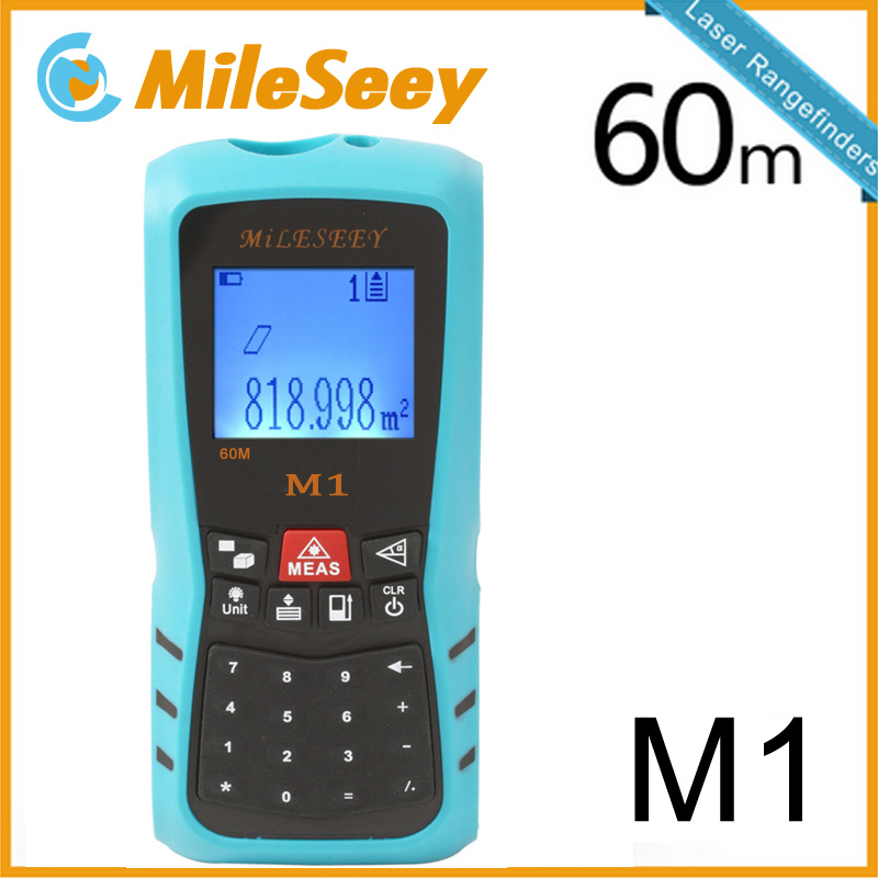 Laser Digital Rangefinder M1 40M Area/Volume M/Ft/in Tool Blue Range Finder Hunting Measure Distance Tester Rechargeable laser range finder 40m 60m 80m 100m digital laser distance meter tape area volume angle engineer measure construction tools