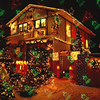 Outdoor Christmas Laser Lights Projector Motion Snowflake Jingling Bell Xmas Tree Santa Claus RG Stars With