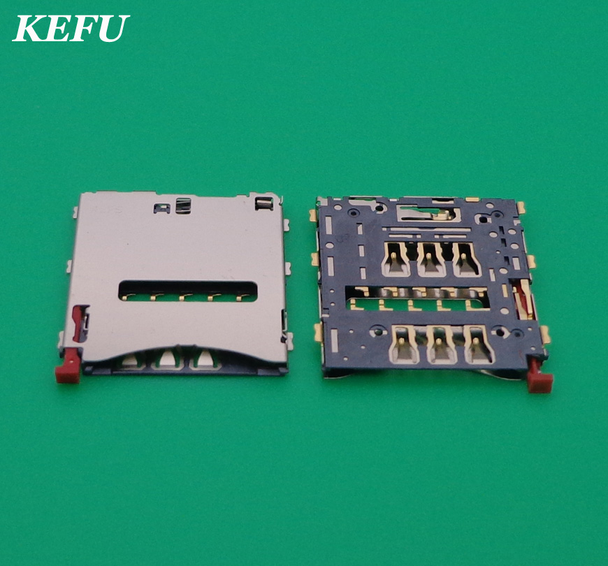 30pcs/lot Sim Card Reader Tray Socket Holder For Sony Z1 L39h LT39i C6902 C6903 Z Ultra XL39H C6802 C6833 Z1 Compact D5503 M51W(China)