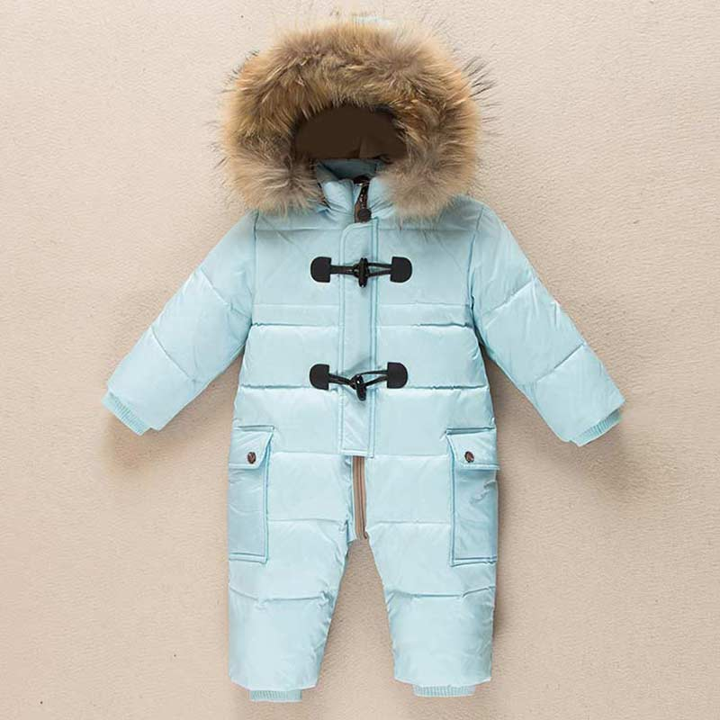 Newborn Baby Rompers 2018 Christmas clothes Winter Boys and Girls Warm Infant Snowsuit Kid ski suit Jumpsuit Children Outerwear baby rompers winter thick climbing clothes newborn boys girls warm jumpsuit 2018 high quality ski suit outwear for infant 0 18 m