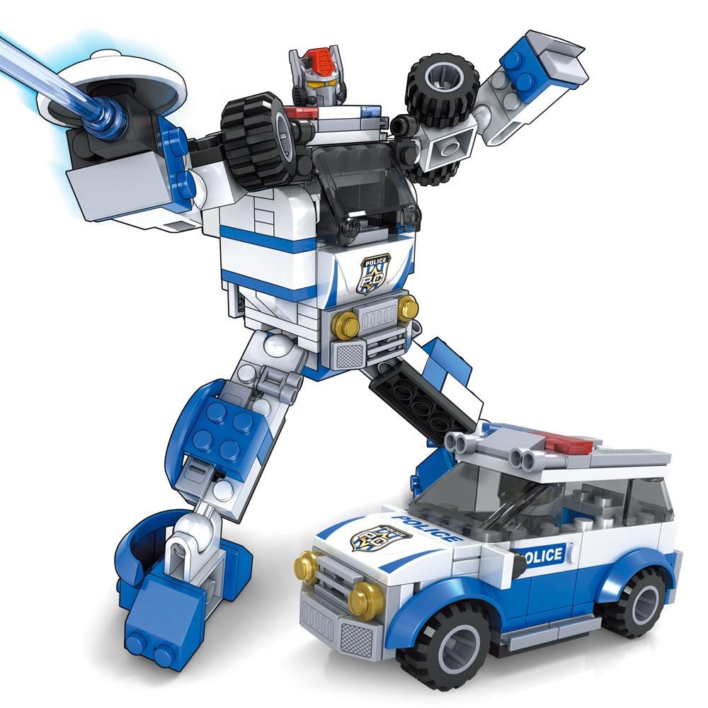 子供のビルディングブロックのおもちゃ、ロボットの変形、車の変形、子供のおもちゃのギフト