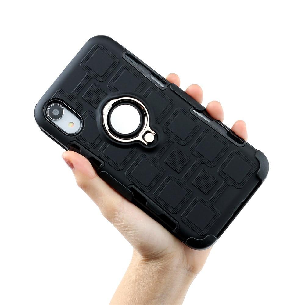 Image 4 - Бронированный чехол для телефона для защиты четырех углов, противоударный чехол для iPhone XR XS MAX 6 7 8 plus, задняя крышка из ТПУ с подставкой, оболочка-in Полуобернутый чехлы from Мобильные телефоны и телекоммуникации