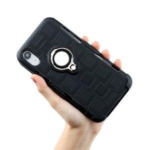 Image 4 - שריון טלפון מקרה עבור ארבע פינת הגנת מקרה עמיד הלם עבור iPhone XR XS מקסימום 6 7 8 בתוספת Kickstand TPU חזרה כיסוי Coque פגז