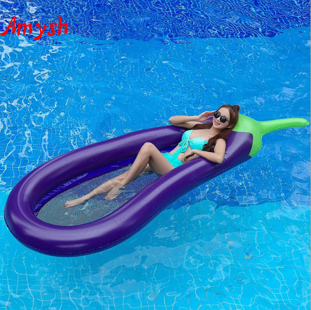 Amysh270cm immense eggplant Swimming Ring Giant Pool Float Mattress tail Swimming Circle Adult Beach Summer Water Inflatable toy все цены