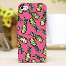 Pineapple Pattern Design Customized transparent case cover cell mobile phone cases for Apple iphone 4 4s