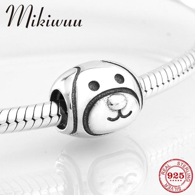 New creative 925 Sterling Silver DIY Cute dog fine beads Jewelry making Fit Original Pandora Charm Bracelet