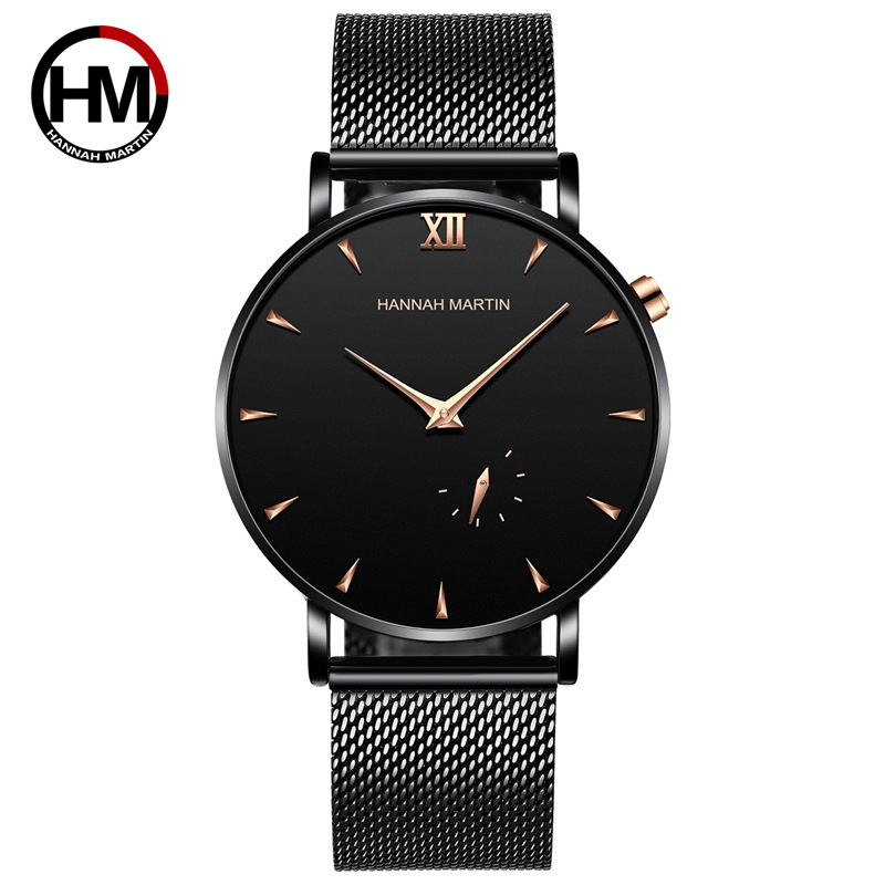 2019 Mens Fashion Quartz Watches Men Sport Waterproof Watch Clock Ultra Thin Minimalist Blue Stainless Steel Mesh Wristwatches|Quartz Watches| |  -
