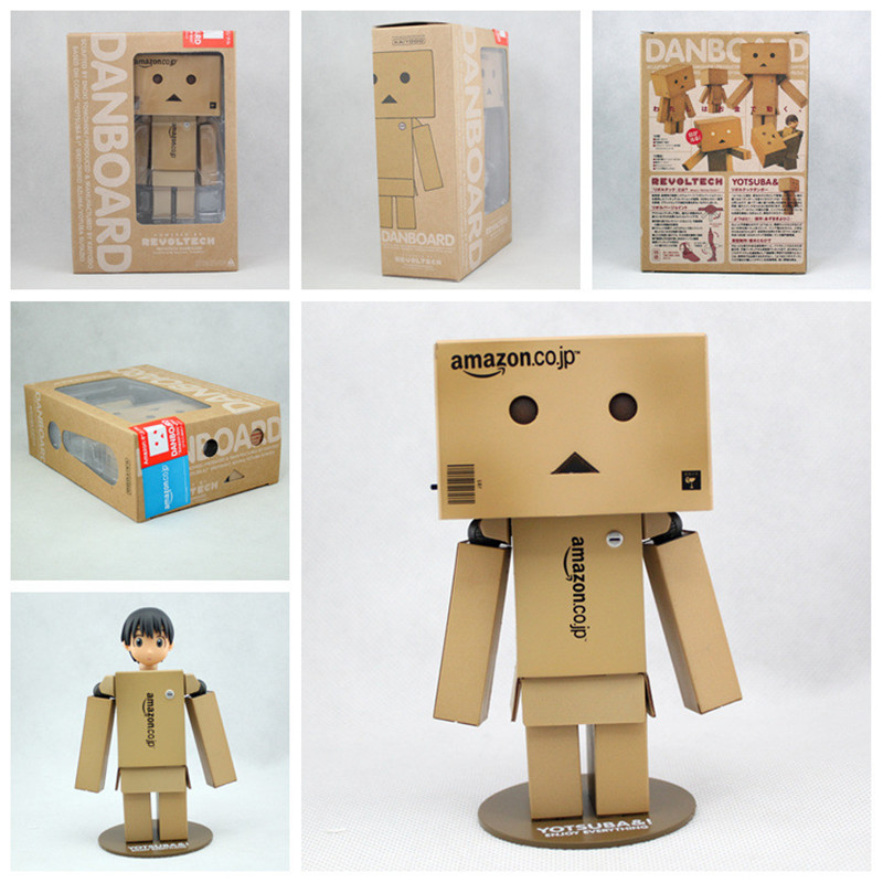 13cm Anime Revoltech Danboard Figure Danboard Danbo Doll Mini Limited Post Style PVC Action Figure Toy With LED Light cute lovely danboard danbo doll pvc action figure toy with led light 13cm