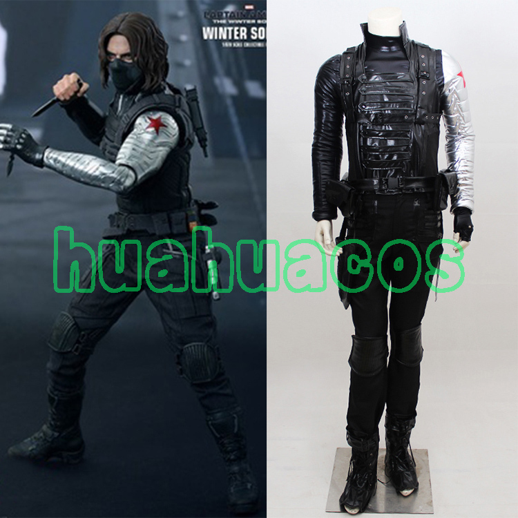 Captain America II The Winter Soldier Bucky Barnes Cosplay Winter Soldier Costume For Halloween