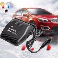 120 W Negro Refrigerador Del Calentador del Coche Encendedor de Cigarrillos Powered Vehículo Parabrisas Caliente Nieve Niebla Frost Remover Plug & Play