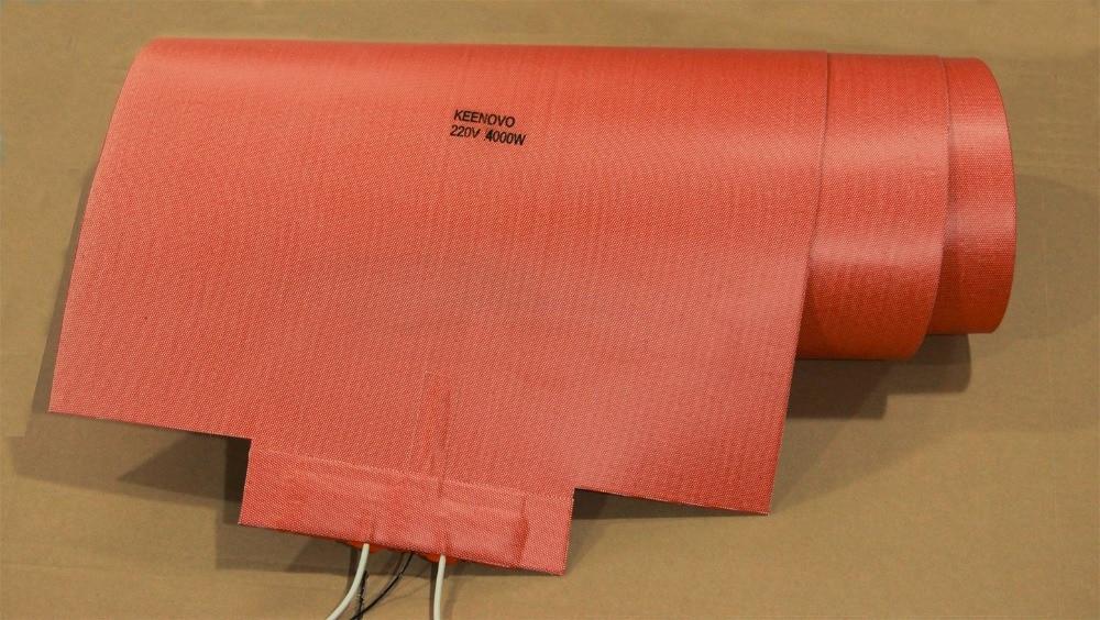 מחמם סיליקון עבור שלג סקי העיתונות, סקי מועצת העיתונות דוד, עץ פורמינג / כיפוף תנור שמיכה w / PID Controller, SSR, K סוג TC