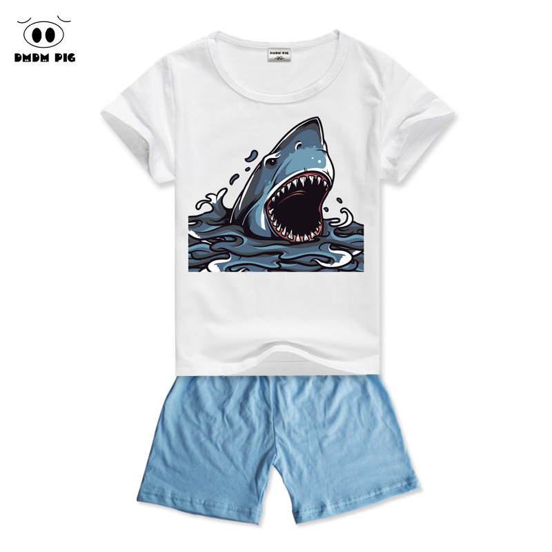 DMDM PIG 2017 Baby Kids Clothes For Boys Clothes Sets Childrens Sports Suits For Boys Girls Clothes Summer T-Shirts + Shorts