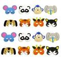 Unids 10 piezas máscara cumpleaños fiesta suministros EVA espuma Animal máscaras dibujos animados niños fiesta vestido disfraz zoológico selva máscara fiesta Decoración