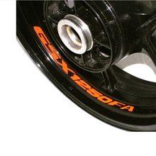 Haute qualité moto roue autocollant autocollant réfléchissant jante vélo moto adapté pour SUZUKI GSX 1250FA GSX1250FA GSX1250 FA