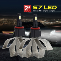 CROSS TIGER Car LED Headlight With Braid Heat Dissipation 8000LM Lamp Auto Bulb Light H1 H3