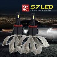 KRZYŻ TIGER Samochodów LED Reflektor z Braid Rozpraszanie Ciepła LM Lampy Auto Żarówka H1 H3 H4 H7 H11 H13 HB3 HB4 HB1 H27 HB5