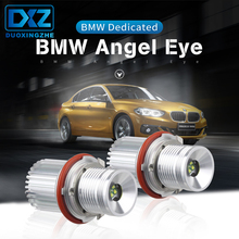 DXZ 2Pcs for BMW Angel Eyes 2*20W 40W CREE LED Chips White E65 E87 E39 E60 E61