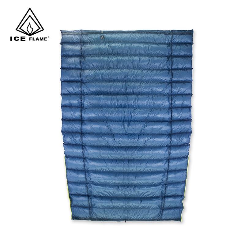 Chama gelo 7D 3 Temporada 800FP 90% Ganso Branco Para Baixo saco de Dormir Saco de Dormir Cobertor Colcha Underquilt Para Rede Mochila de Campismo