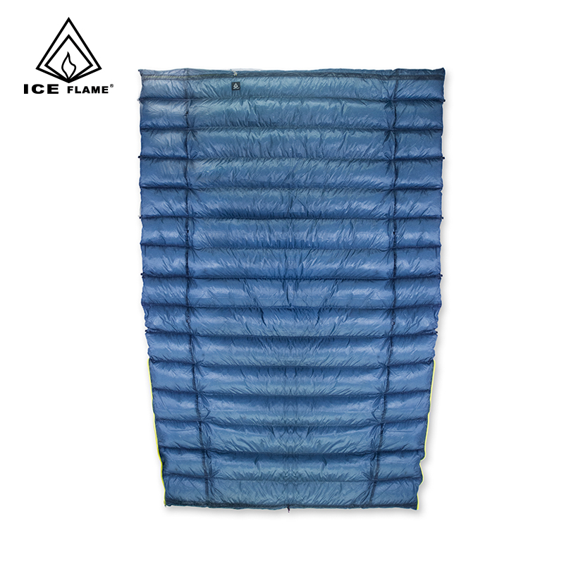 Ice Flame 7D 3 Season 800FP 90% White Goose Down Sleeping Bag Blanket Sleeping Quilt Underquilt For Hammock Backpacking Camping