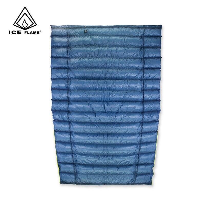Llama de hielo 7D TEMPORADA 3 800FP 90% ganso blanco bolsa de dormir manta durmiendo colcha Underquilt para hamaca mochila Camping