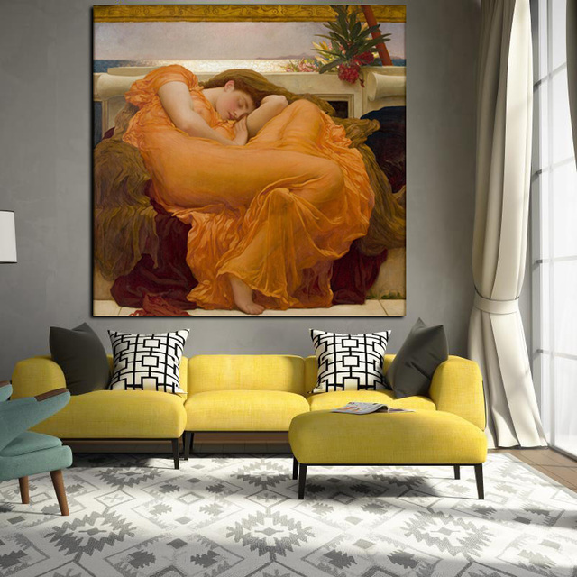 Big Size Hd Prints Realistic Nude Oil Painting Sleeping -8084