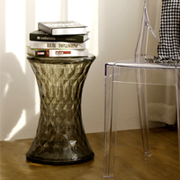 Style Modern PC Hourglass Stone Stool Minimalist Modern Transparent The Crystal Stool Dining Chairs 31 45cm