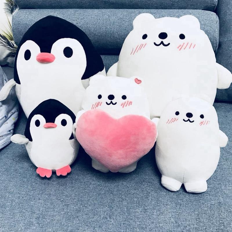 Soft Fat Penguin Polar Bear Plush Toys Stuffed Cartoon Animal Doll Fashion Toy For Kids Baby Cute Girls Christmas Birthday Gift
