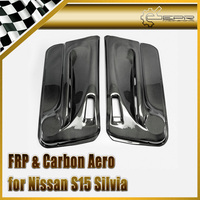 Car Styling For Nissan S15 Silvia DM Style Inner Card(Pair) Glossy Fibre Finish Interior Door Panel Auto Racing Body Kit Trim