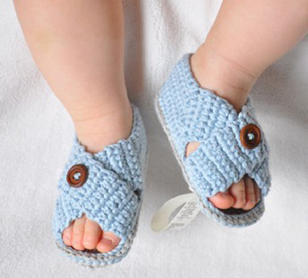 Lovely Baby Boy Girl Summer Walkers Soft Soled Crochet Shoes For