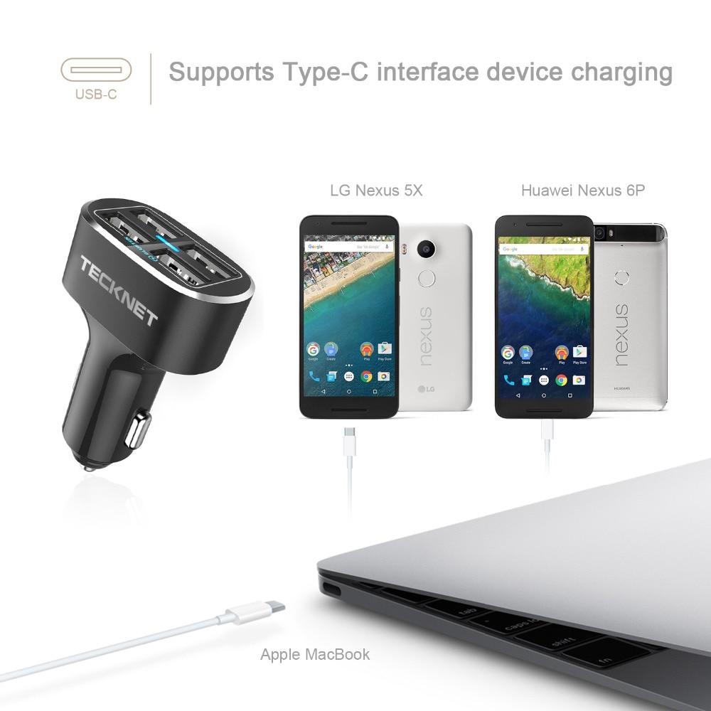 TeckNet USB-billaddare 9.6A / 48W 4-port USB-billaddare med smart - Reservdelar och tillbehör för mobiltelefoner - Foto 5
