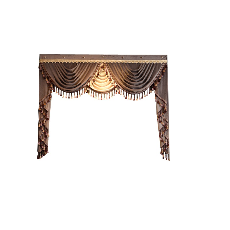 Luxury Valance custom dedicated links for living room bedroom kitchen hotel window curtain top (not included curtain and tulle)