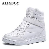 ALI BOY Brand Winter Women Boots Breathable Height Increase Warm Plush Sneakers Women Running Shoes Women