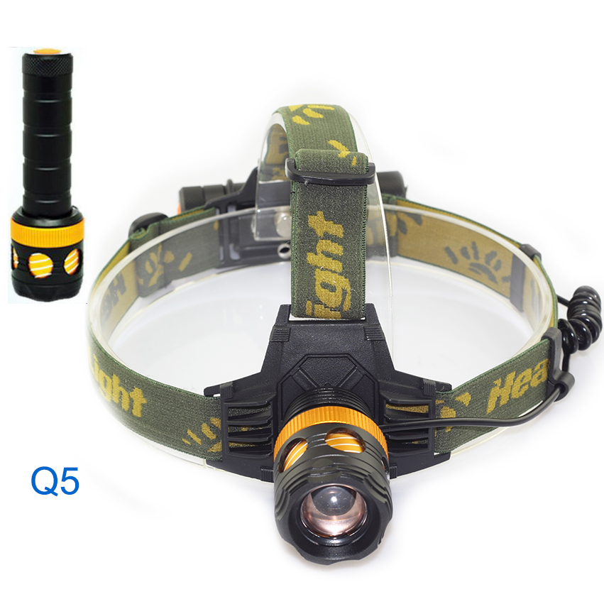 2 in 1 led Headlamp with flashlight Q5 Frontal flash lamp torch lanterna Head Lamp headlight For Fishing Hunting Camping