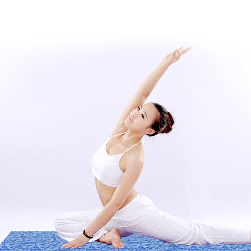 Tapis de Yoga naturel 6mm tapis de Yoga tapis de Fitness PVC matériel pour exercice tapis de gymnastique conception Unique Chastep Fitness avec sac de Yoga