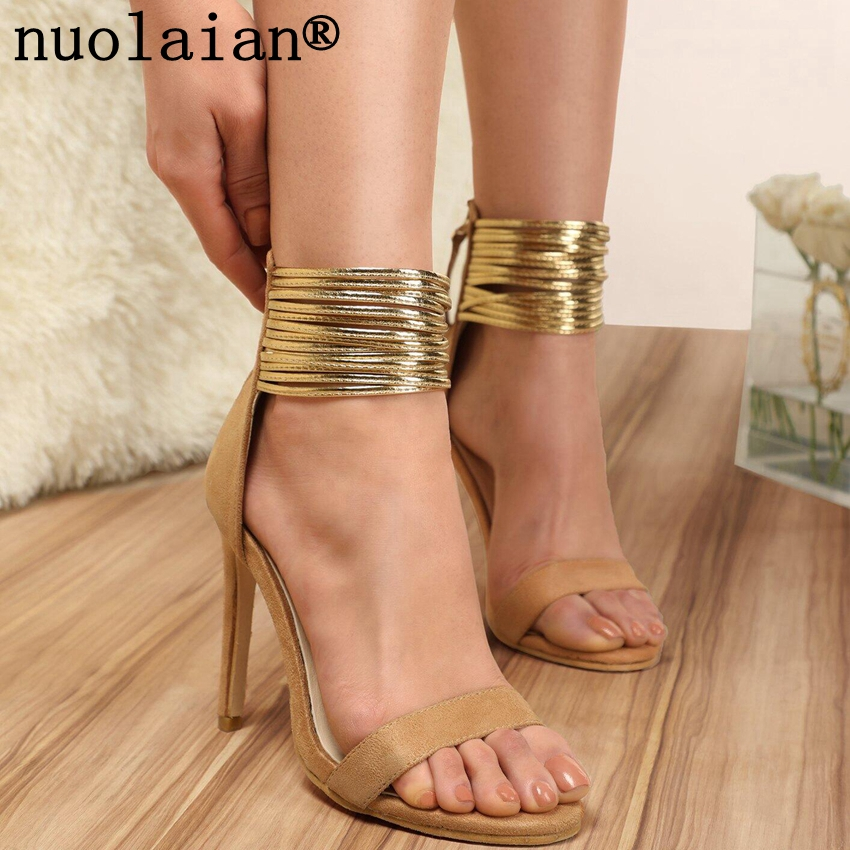 High Heel Sandals Platform Peep Toe Ankle Strap Thin Heel Sandals Summer Shoes,Beige,4