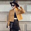 Customize Women European Style Retro Vintage Winter Jacket Ladies Plus Size 3XS-10XL All Match Faux Suede Short Outwear Coat
