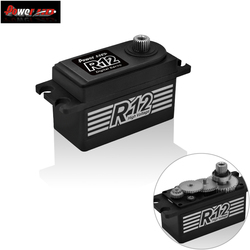 Potenza HD R12 12 kg Alta Torgue Brushless Matel Gear Servo 6.0 ~ 8.4 v per Rc 1/10 Auto Elettrica