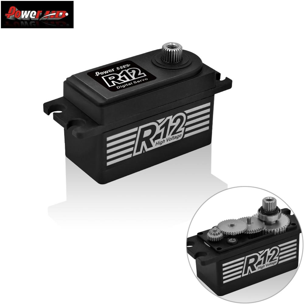 Power HD R12 12KG High Torgue Brushless Matel Gear Servo 6.0 ~ 8.4V For Rc 1/10 Electric Car