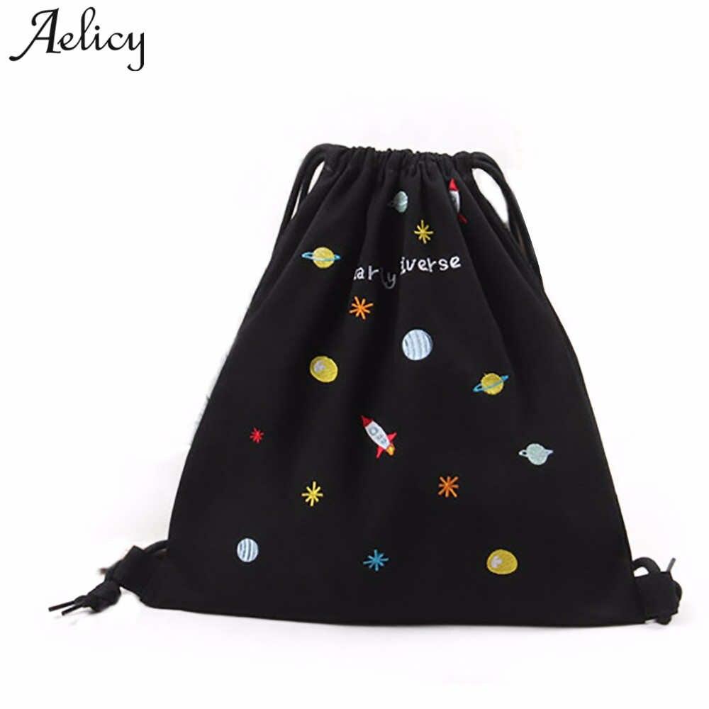Aelicy High Quality Fashion Printing Backpack Women School Backpack Women Daily Casual Drawstring Bag Girl Mochila Feminina