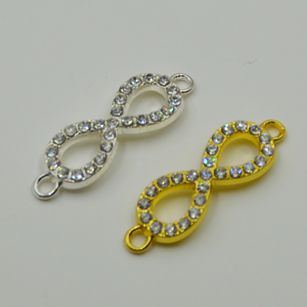 20pcslot Large Size Silvergold Color Silver Infinity Charms