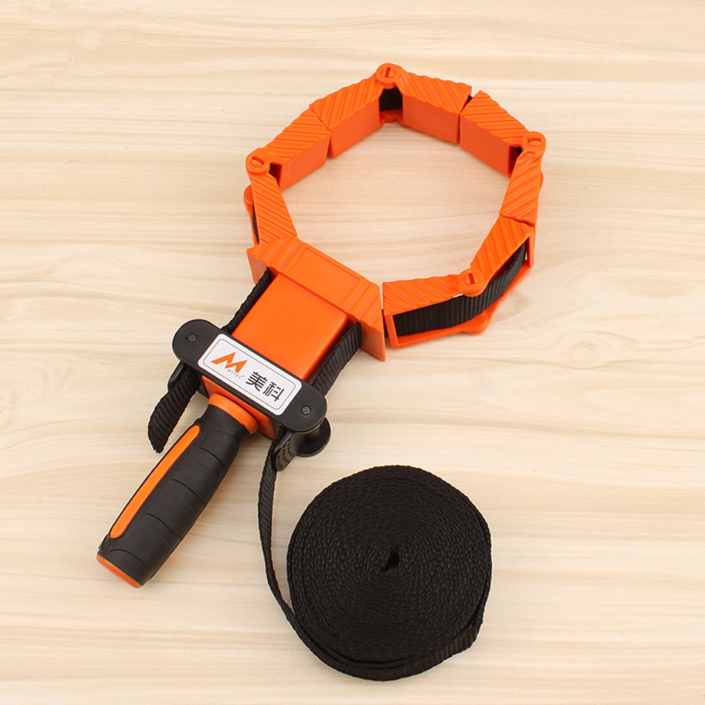 4 Jaws Woodworking Picture Frame Band Strap Clamp Holder Miter Vise Ratchet Corner Clamp Band Photo Tools Adjust
