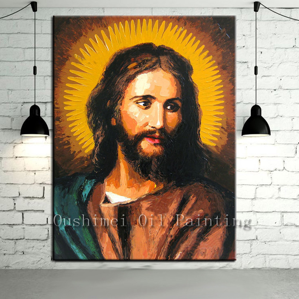 Handpainted Jesus Christ Painting Christian Wall Picture Religious