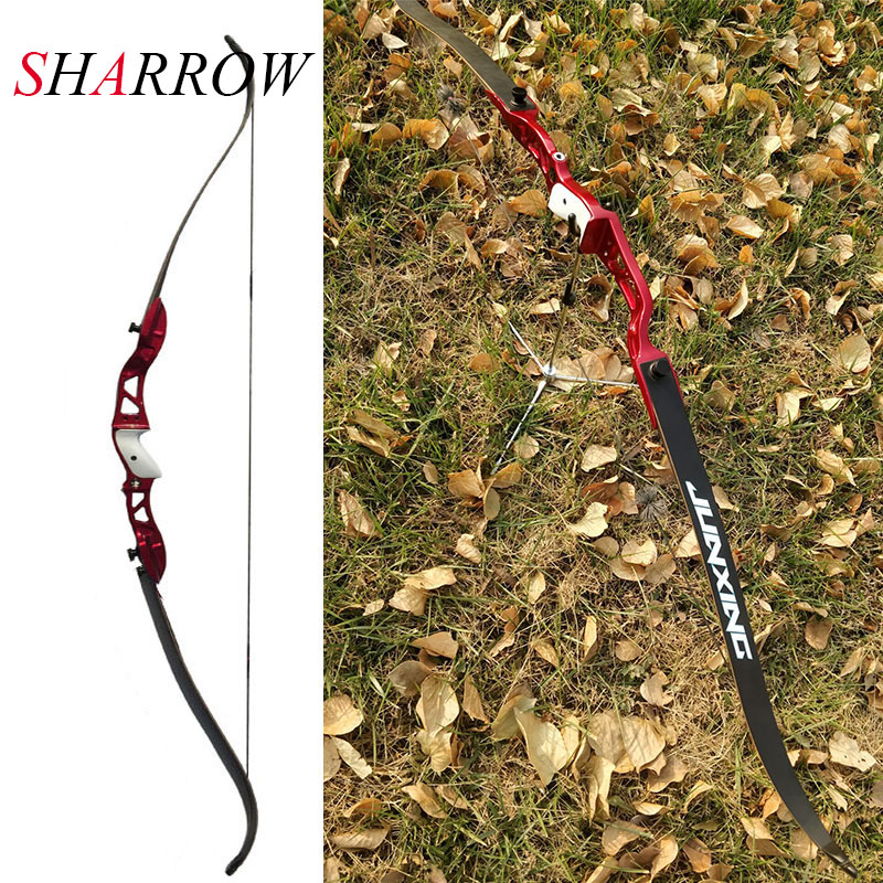 Recurve Bow Archery Draw Weight 24-36lbs Alloy Aluminum Bow Arrow Camping Slingshot arco e flecha Arossbow 66 inch