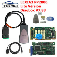 Professional Scanner Lexia3 PP2000 Lite Version Best Quality Diagbox V7.83 for Citroen for Peugeot support Multi languages LEXIA
