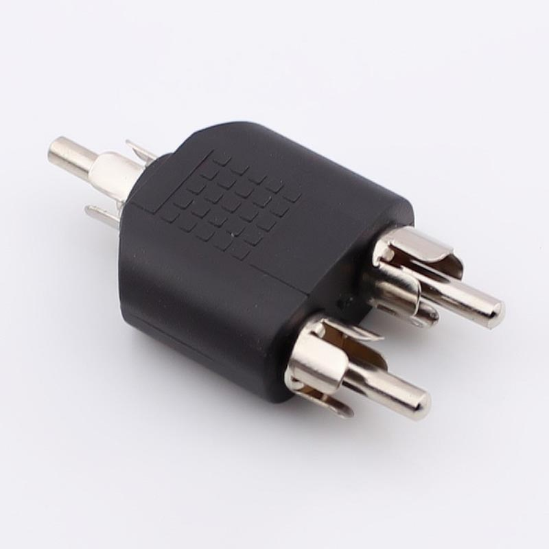 10pcs-100pcs Audio and Video RCA Adapter Three Lotus Male Head AV RCA JJJ Tee Connector One Into Two 1pair 2pcs rca connector high quality rca male connector gold plating audio adapter black