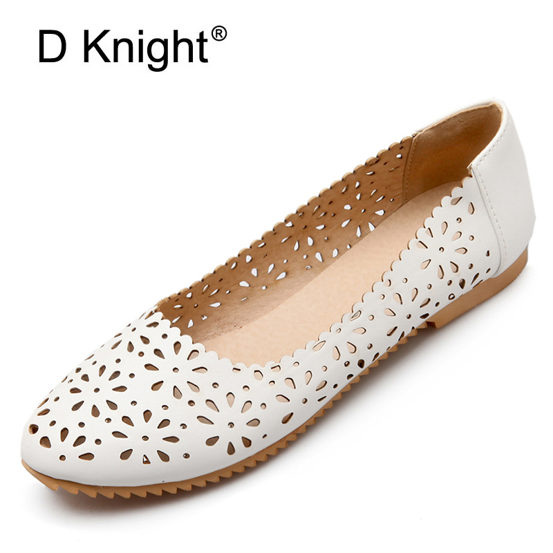 New Women Cut-Outs Flats Plus Size 32-47 Summer Round Toe Shoes Woman Comfortable Flats Black Blue Pink White Shoes For Women gold sliver shoes woman for 2016 new spring glitter bling pointed toe flats women shoes for summer size plus 35 40 xwd1841