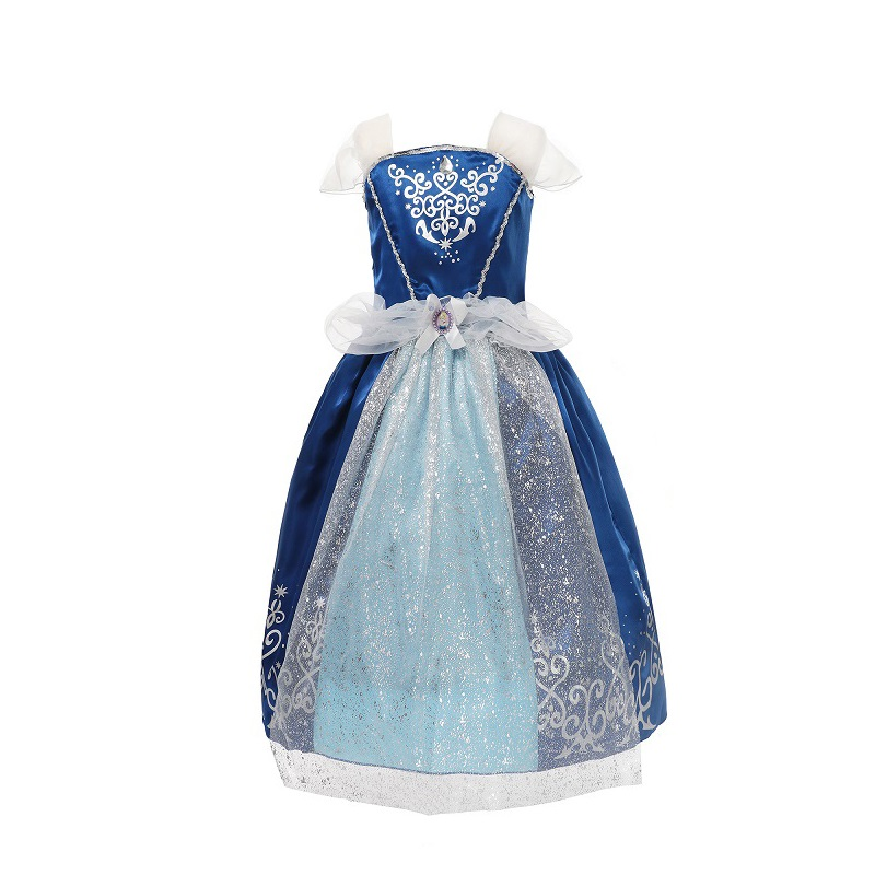 Girls Rapunzel Dress Up Princess Costume Children Sofia Halloween Party Cosplay
